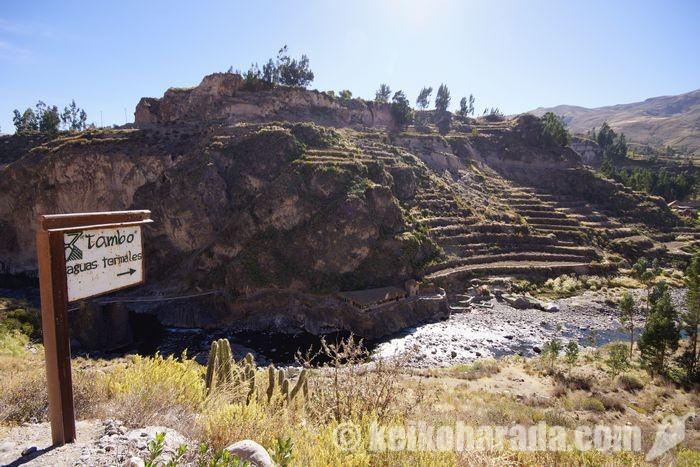タンボ温泉の全景