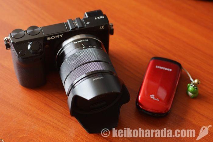 カメラと携帯