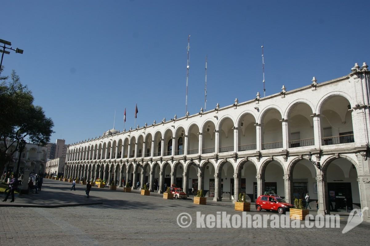 アレキパのアルマス広場