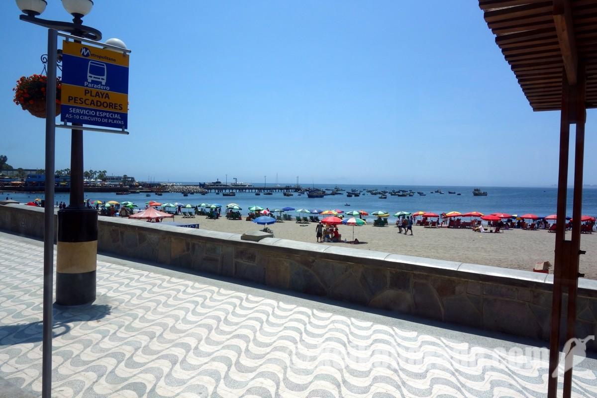 ビーチとバス停