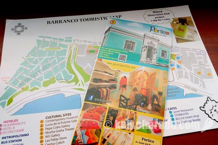 ポルティコ特製バランコの地図