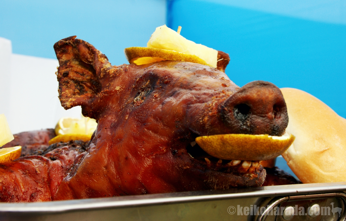 豚の丸焼き(頭部)