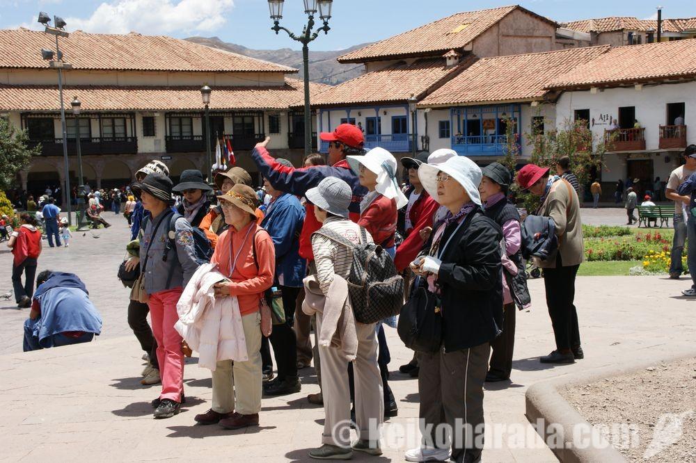 クスコの日本人観光客