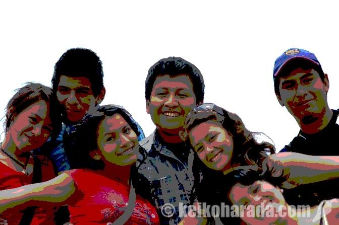 ペルーの若者
