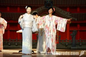 沖縄祭り、着物ショー