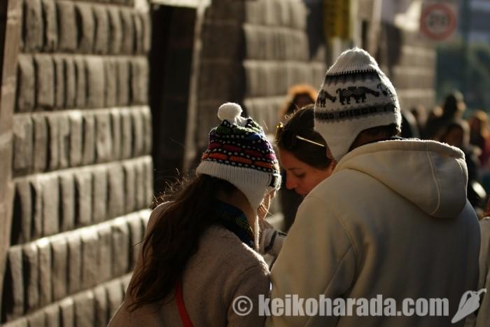 クスコの観光客