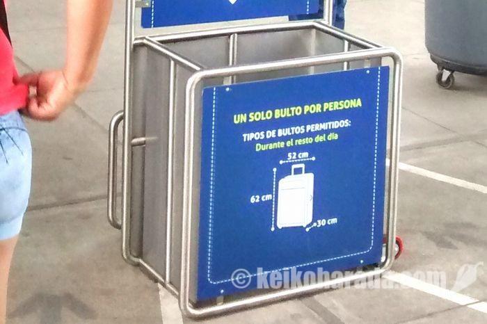 メトロの荷物制限