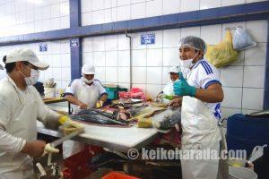 ビジャマリアの鮮魚卸売市場