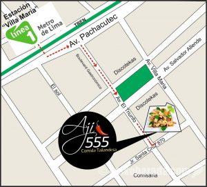 Aji 555 店舗地図