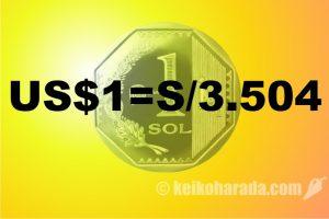 9日為替市場1ドル=3.504ソレス 大台突破