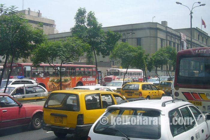 リマの交通渋滞