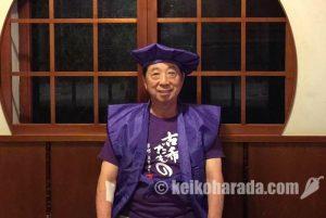 古希特製Tシャツを身につけた深澤さん