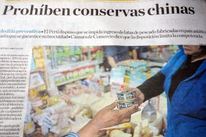 ペルー、中国産魚肉缶詰の輸入を禁止