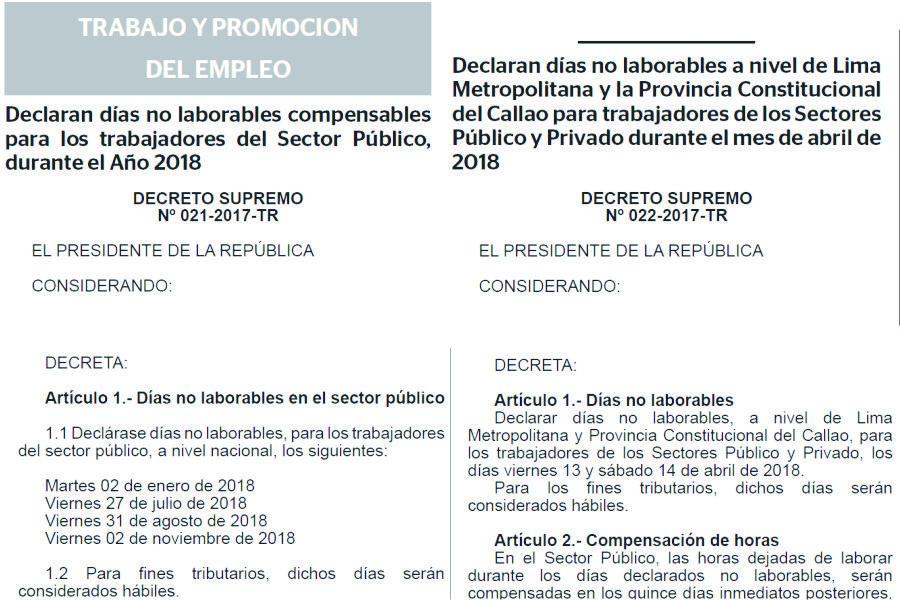 2018年ペルーの不労日