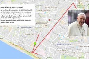 ローマ教皇来秘に伴う交通規制のお知らせ