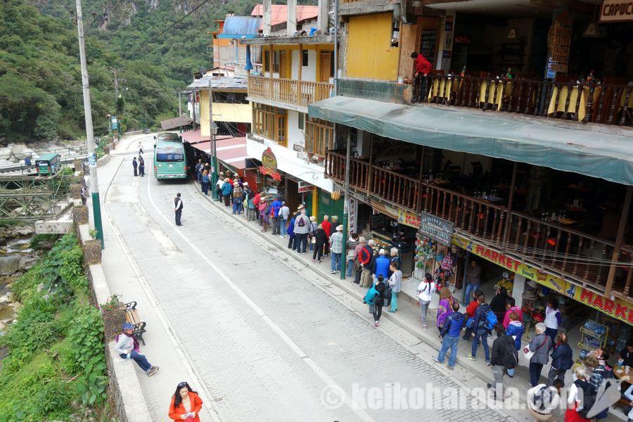 マチュピチュ村のバス