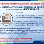 ペルー観光滞在期間のオンライン延長申請