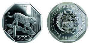 希少野生動物シリーズ1ソル硬貨第6弾はジャガー