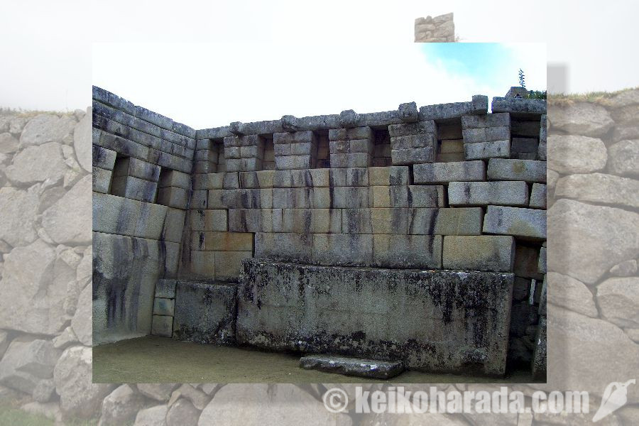 マチュピチュ遺跡の石壁