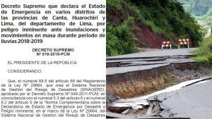 リマ3郡32地区などに60日間の緊急事態宣言
