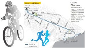 パンアメリカン競技大会 マラソンコースなど新市街4区で障害物撤去開始