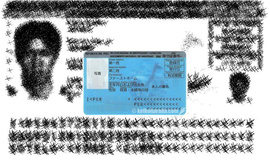ペルー人の身分登録証