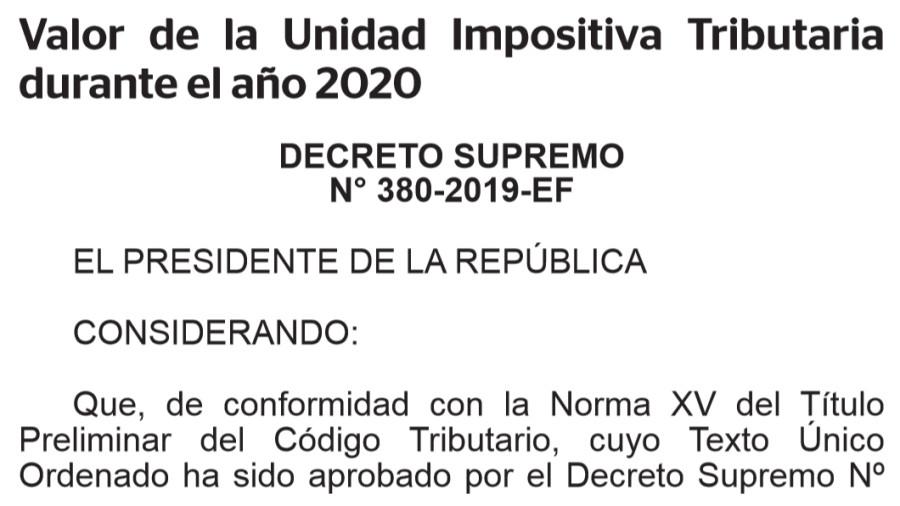 ペルーの課税単位2020年度