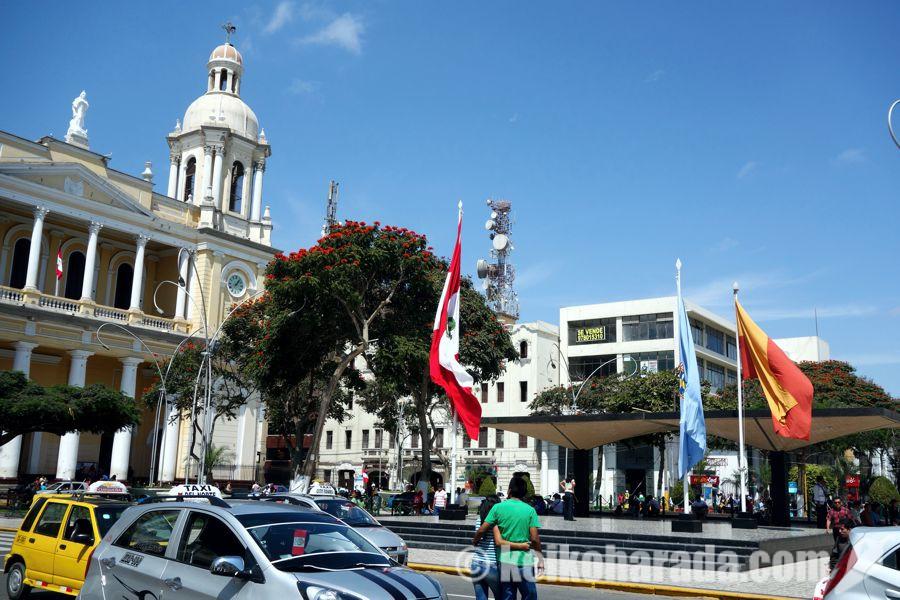 チクラヨのアルマス広場