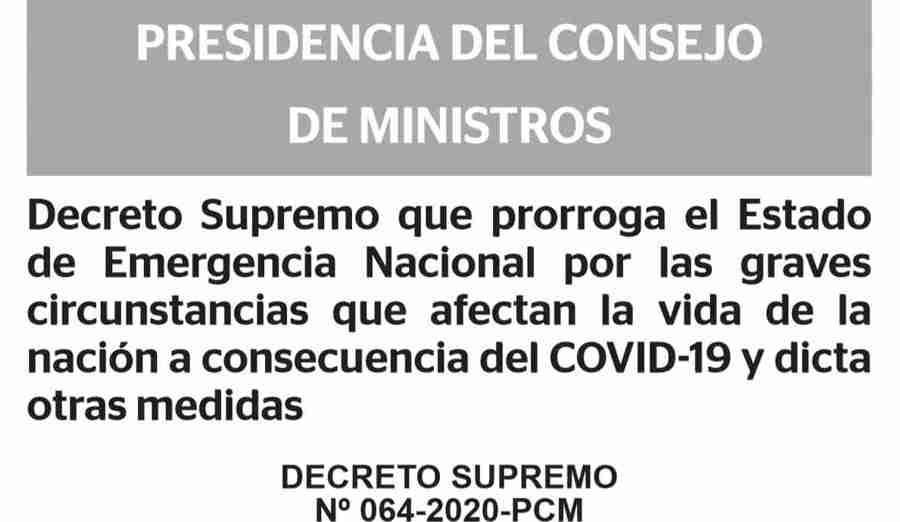 大統領令第064-2020-PCM
