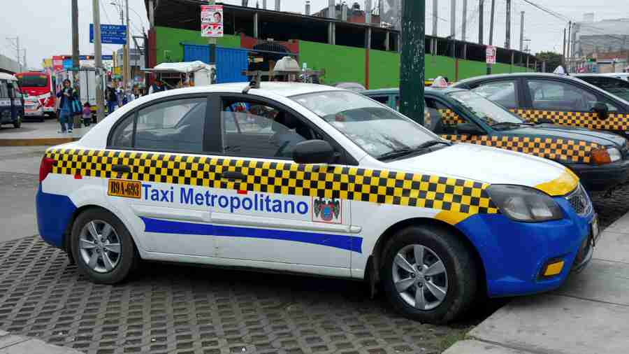 リマのタクシー