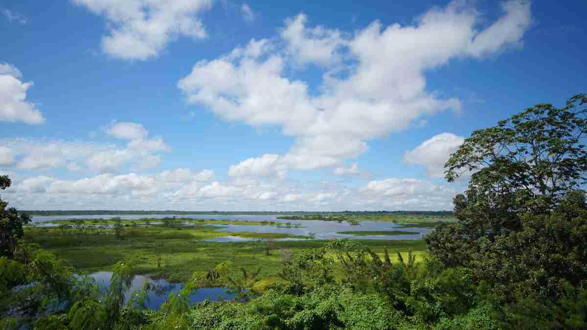 イキトスから望むアマゾン河