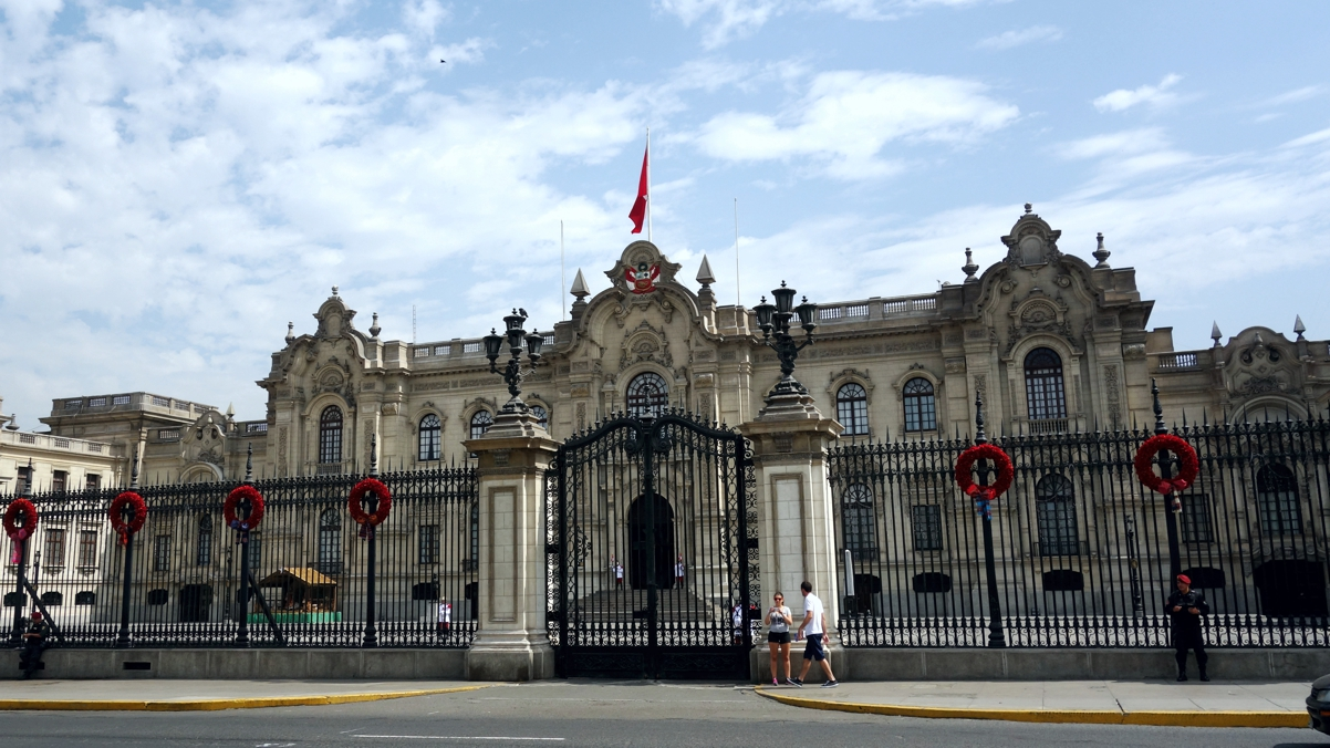 ペルーの大統領宮殿