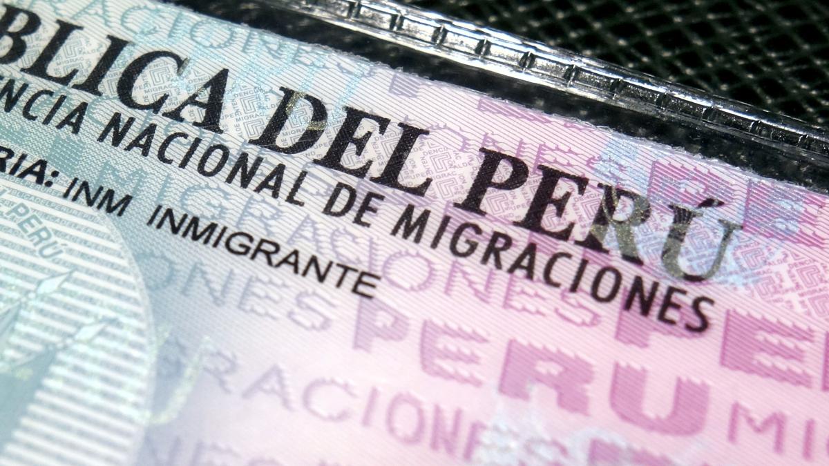 jペルーの外国人登録証