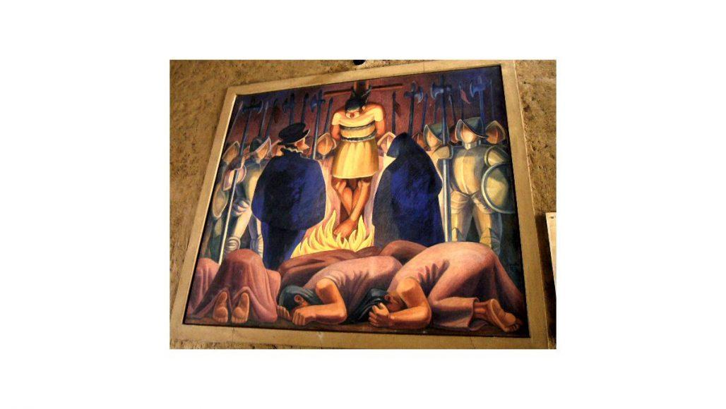身代金の部屋の絵画その3 アタワルパの火刑