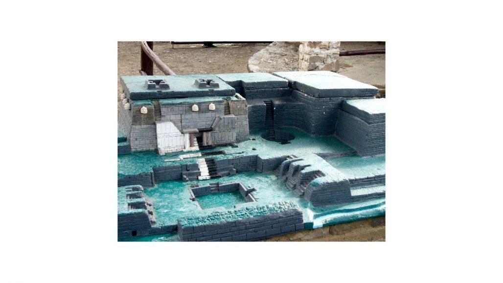 チャビン・デ・ワンタル遺跡構内模型