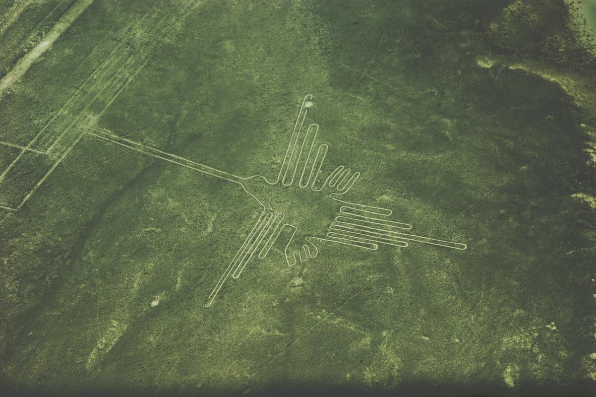 ナスカの地上絵・ハチドリ